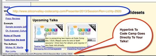 direct link to sessions example